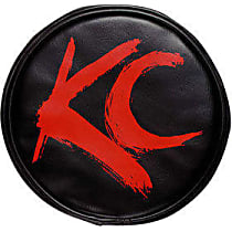 5110 Offroad Light Cover - Black and Red, Vinyl, Universal, Set of 2