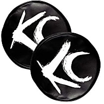 5117 Offroad Light Cover - Black and White, Vinyl, Universal, Set of 2