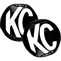 5800 Offroad Light Cover - Black and White, Vinyl, Universal, Set of 2