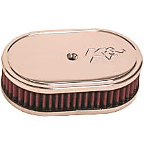 Air Cleaner Assembly - Chrome Top; Red Filter, Cotton Gauze, Oiled, Universal, Assembly