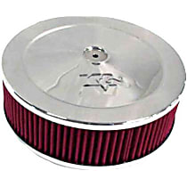 Air Cleaner Assembly - Stainless Steel Top; Red Filter, Cotton Gauze, Universal, Assembly