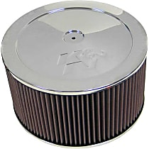 Air Cleaner Assembly - Chrome Top; Red Filter; Chrome Base, Cotton Gauze, Universal, Assembly
