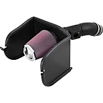K&N 63 Series AirCharger 63-9040 Cold Air Intake, Oiled Cotton Gauze Filter, Black Plastic Tube