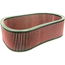 E-3001 Universal Air Filter - Red, Cotton Gauze, Washable, Universal, Sold individually