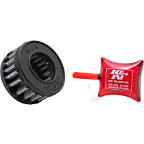 K&N E-3009 Universal Air Filter - Red, Cotton Gauze, Washable, Universal, Sold individually
