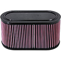 E-3033 Universal Air Filter - Red, Cotton Gauze, Washable, Direct Fit, Sold individually