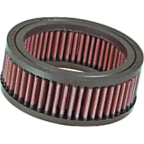 E-3200 Universal Air Filter - Red, Cotton Gauze, Washable, Universal, Sold individually