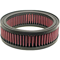 K&N E-3243 Universal Air Filter - Red, Cotton Gauze, Washable, Universal, Sold individually