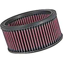 E-3310 Universal Air Filter - Red, Cotton Gauze, Washable, Universal, Sold individually