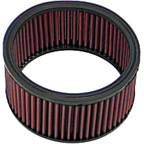 E-3340 Universal Air Filter - Red, Cotton Gauze, Washable, Universal, Sold individually