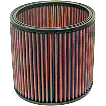 E-3346 Universal Air Filter - Red, Cotton Gauze, Washable, Universal, Sold individually