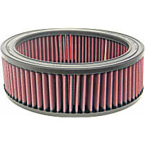K&N E-3500 Universal Air Filter - Red, Cotton Gauze, Washable, Universal, Sold individually