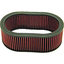 K&N E-3504 Universal Air Filter - Red, Cotton Gauze, Washable, Universal, Sold individually
