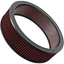 K&N E-3750 Universal Air Filter - Red, Cotton Gauze, Washable, Direct Fit, Sold individually