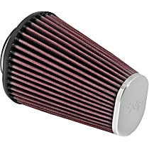RC-3680 Universal Air Filter - Red, Cotton Gauze, Washable, Direct Fit, Sold individually