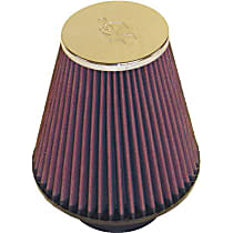 K&N RC-4290 Universal Air Filter - Red, Cotton Gauze, Washable, Direct Fit, Sold individually