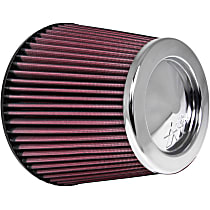RC-4381 Universal Air Filter - Red, Cotton Gauze, Washable, Direct Fit, Sold individually