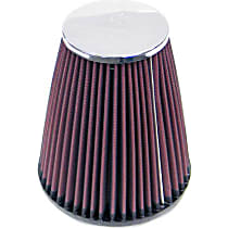 K&N RC-4470 Universal Air Filter - Red, Cotton Gauze, Washable, Direct Fit, Sold individually