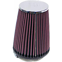 K&N RC-4540 Universal Air Filter - Red, Cotton Gauze, Washable, Direct Fit, Sold individually