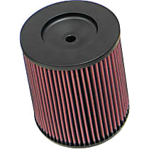 K&N RC-4900 Universal Air Filter - Red, Cotton Gauze, Washable, Direct Fit, Sold individually