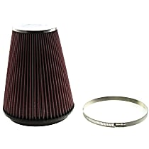 K&N RC-5046 Universal Air Filter - Red, Cotton Gauze, Washable, Direct Fit, Sold individually