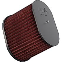 K&N RC-5178 Universal Air Filter - Red, Cotton Gauze, Washable, Direct Fit, Sold individually