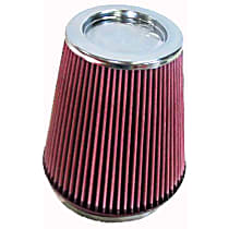 K&N RF-1020 Universal Air Filter - Red, Cotton Gauze, Washable, Direct Fit, Sold individually