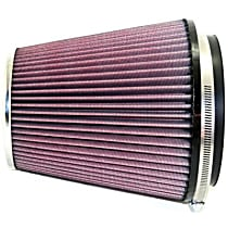 K&N RF-1041 Universal Air Filter - Red, Cotton Gauze, Washable, Direct Fit, Sold individually