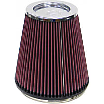 RF-1044 Universal Air Filter - Red, Cotton Gauze, Washable, Direct Fit, Sold individually