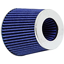K&N RG-1001BL Universal Air Filter - Blue, Cotton Gauze, Washable, Universal, Sold individually