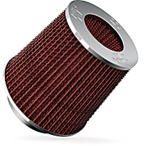 K&N RG-1001RD Universal Air Filter - Red, Cotton Gauze, Washable, Universal, Sold individually