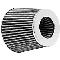 K&N RG-1001WT Universal Air Filter - White, Cotton Gauze, Washable, Universal, Sold individually