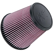K&N RU-1029 Universal Air Filter - Red, Cotton Gauze, Washable, Direct Fit, Sold individually