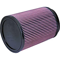 K&N RU-3020 Universal Air Filter - Red, Cotton Gauze, Washable, Universal, Sold individually