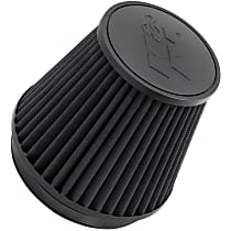 K&N RU-3102HBK Universal Air Filter - Black, Synthetic, Washable, Direct Fit, Sold individually