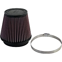 RU-5147 Universal Air Filter - Red, Cotton Gauze, Washable, Direct Fit, Sold individually