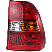 Passenger Side Tail Light, With bulb(s) - Amber, Clear & Red Lens, Type 1
