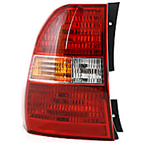 Driver Side Tail Light, With bulb(s) - Amber, Clear & Red Lens, Type 1