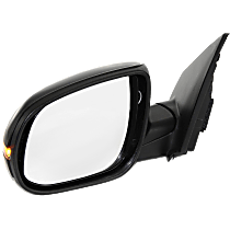 Mirror - Driver Side, Power, Heated, Folding, Paintable, With Turn Signal