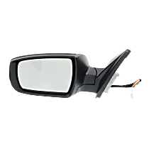 Mirror - Driver Side, Power, Heated, Power Folding, Paintable, With Turn Signal, and Memory
