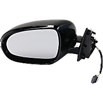 Mirror - Driver Side, Power, Heated, Folding, Paintable, With Turn Signal, Models Without Surround View