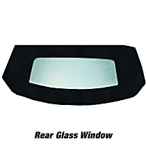 Kee Auto Top HG0118TN14SF Convertible Rear Window - Cloth, Direct Fit, Sold individually