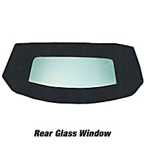 Kee Auto Top HG0243CTN33SP Convertible Rear Window - Vinyl, Direct Fit, Sold individually