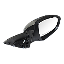 Mirror Power Folding Heated - Passenger Side, In-housing Signal Light, Chrome