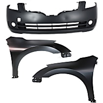 Fender - Front, Driver and Passenger Side, Sedan, with Front Bumper Cover