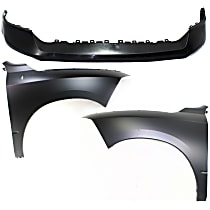 Fender - Front, Driver and Passenger Side, with Front Upper Bumper Cover