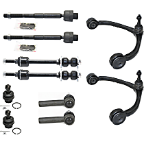 Control Arm with Ball Joint, Tie Rod End, Sway Bar Link Front Driver and Passenger Side