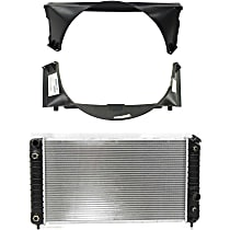 Radiator - with Fan Shroud (Upper and Lower)