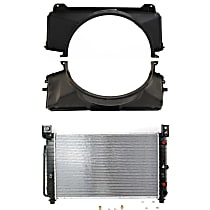 Radiator - 28.25 x 17.25 x 1 in. Core Size, with Fan Shroud (Upper and Lower)