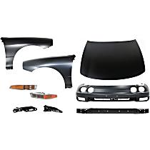 Fender, Turn Signal Light, Hood, Bumper Cover, Bumper Reinforcement, and Hood Hinge Kit
